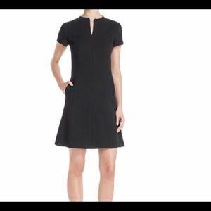 THEORY APALIA BLACK ZIPPER DRESS